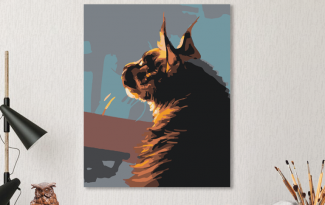 Картина по номерам на холсте 50х40 см. «Мейн-кун». TM Selfica