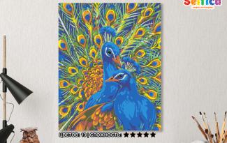Картина по номерам на холсте 50х40 см. «Павлины». TM Selfica
