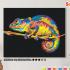 Картина по номерам на холсте 50х40 см. «Радужный хамелеон». TM Selfica 0 Preview
