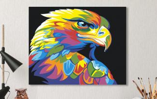 Картина по номерам на холсте 50х40 см. «Радужный орёл». TM Selfica