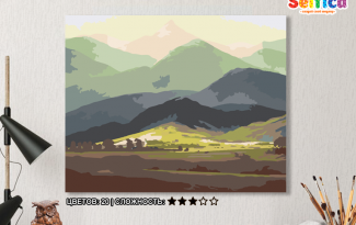 Картина по номерам на холсте 50х40 см. «У подножия гор». TM Selfica