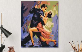 Картина по номерам на холсте 50х40 см. «В ритме страсти». TM Selfica