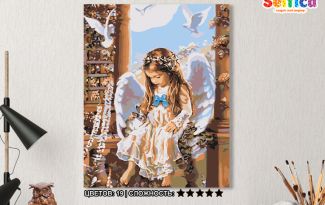 Картина по номерам на холсте 50х40 см. «Маленький ангел». TM Selfica
