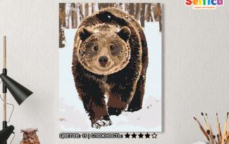 Картина по номерам на холсте 50х40 см. «Хозяин леса». TM Selfica