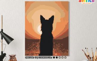 Картина по номерам на холсте 50х40 см. «Наблюдая за закатом». TM Selfica