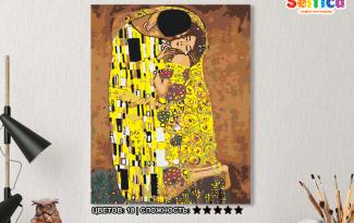 Картина по номерам на холсте 50х40 см. «Поцелуй» Густав Климт. TM Selfica