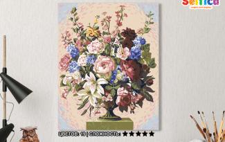 Картина по номерам на холсте 50х40 см. «Пышный букет». TM Selfica