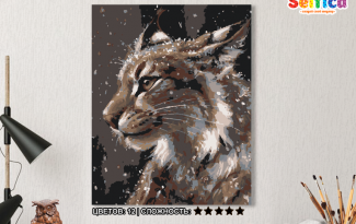 Картина по номерам на холсте 50х40 см. «Рысь». TM Selfica