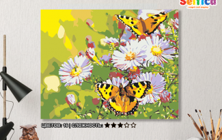 Картина по номерам на холсте 50х40 см. «Солнечная поляна». TM Selfica