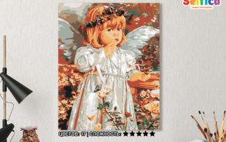 Картина по номерам на холсте 50х40 см. «Среди цветов». TM Selfica