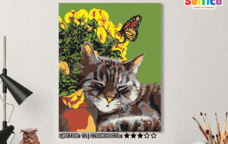 Картина по номерам на холсте 50х40 см. «Тихий час». TM Selfica