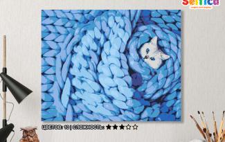 Картина по номерам на холсте 50х40 см. «В одеялке». TM Selfica