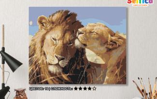 Картина по номерам на холсте 50х40 см. «Забота». TM Selfica