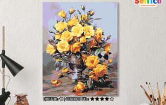 Картина по номерам на холсте 50х40 см. «Золотой букет». TM Selfica