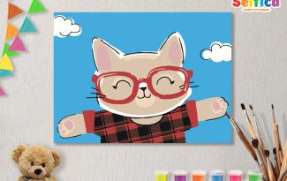 Картины по номерам на холсте 20х15см «Хипстер». TM Selfica