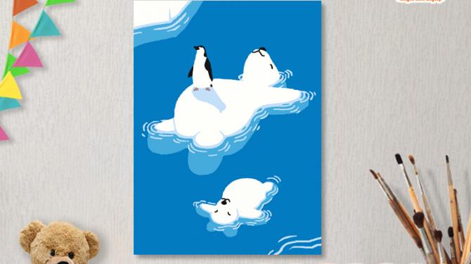 Картины по номерам на холсте 20х15см «Отдых на севере». TM Selfica
