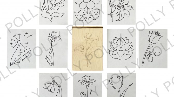 Многоразовая раскраска «Цветы» 0