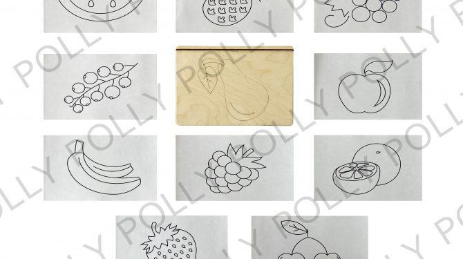 Многоразовая раскраска «Фрукты, ягоды» 0