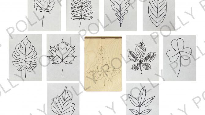 Многоразовая раскраска «Листья деревьев» 0