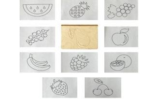 Многоразовая раскраска «Фрукты, ягоды»