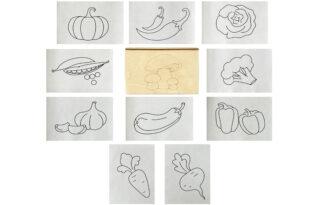 Многоразовая раскраска «Овощи»