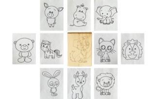 Многоразовая раскраска «Животные»