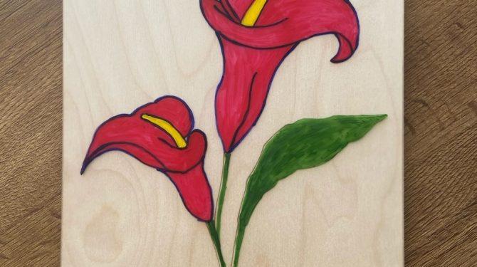 Многоразовая раскраска «Цветы» 1