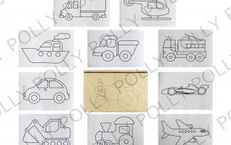 Многоразовая раскраска «Транспорт»