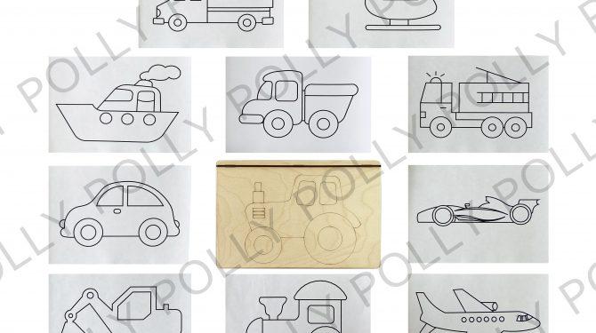 Многоразовая раскраска «Транспорт» 0