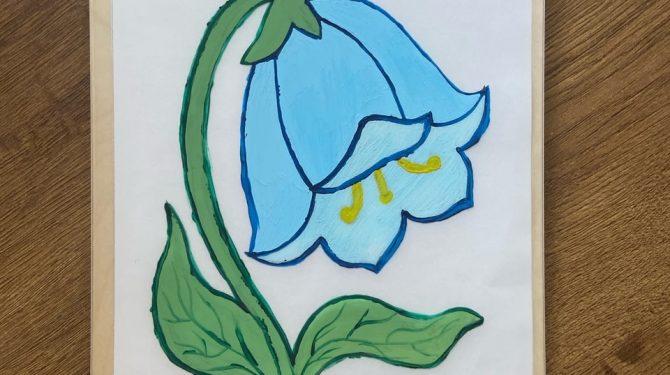 Многоразовая раскраска «Цветы» 2