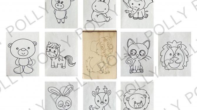 Многоразовая раскраска «Животные» 0