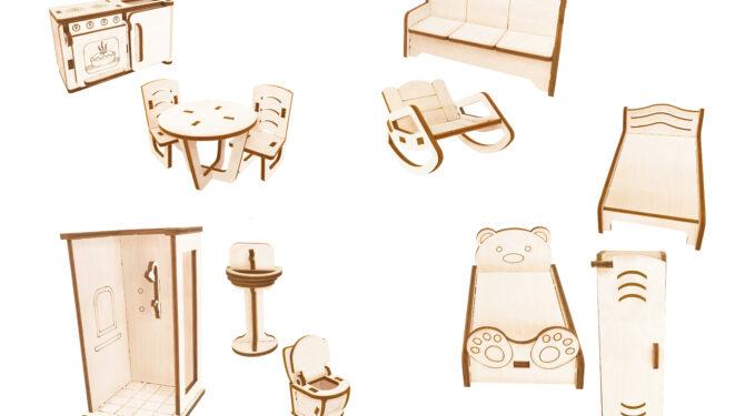 Конструктор «Мебель для кукол «Ассорти»