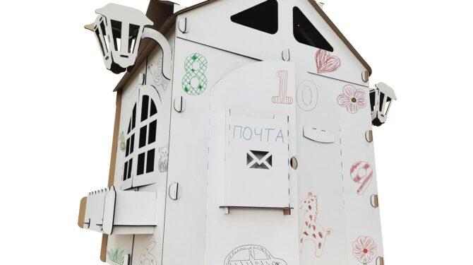 Картонный домик для детей «Прайм» 0