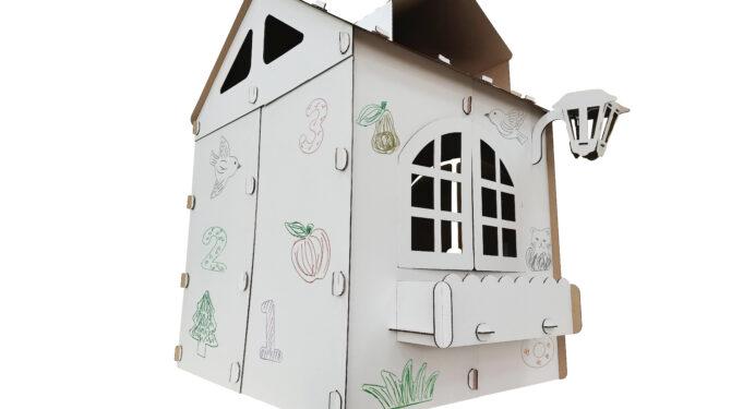 Картонный домик для детей «Прайм» 2
